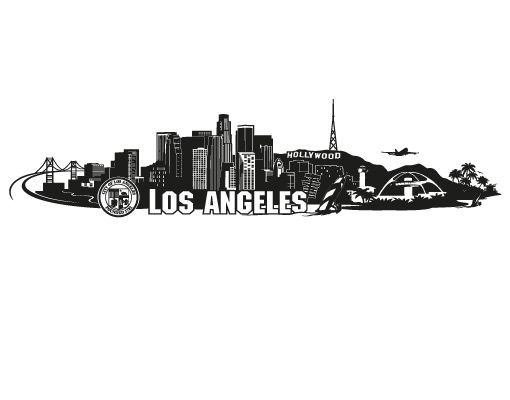 Pin By Dallest On Idees De Tatouages Los Angeles Skyline Los Angeles Landscape Skyline Tattoo
