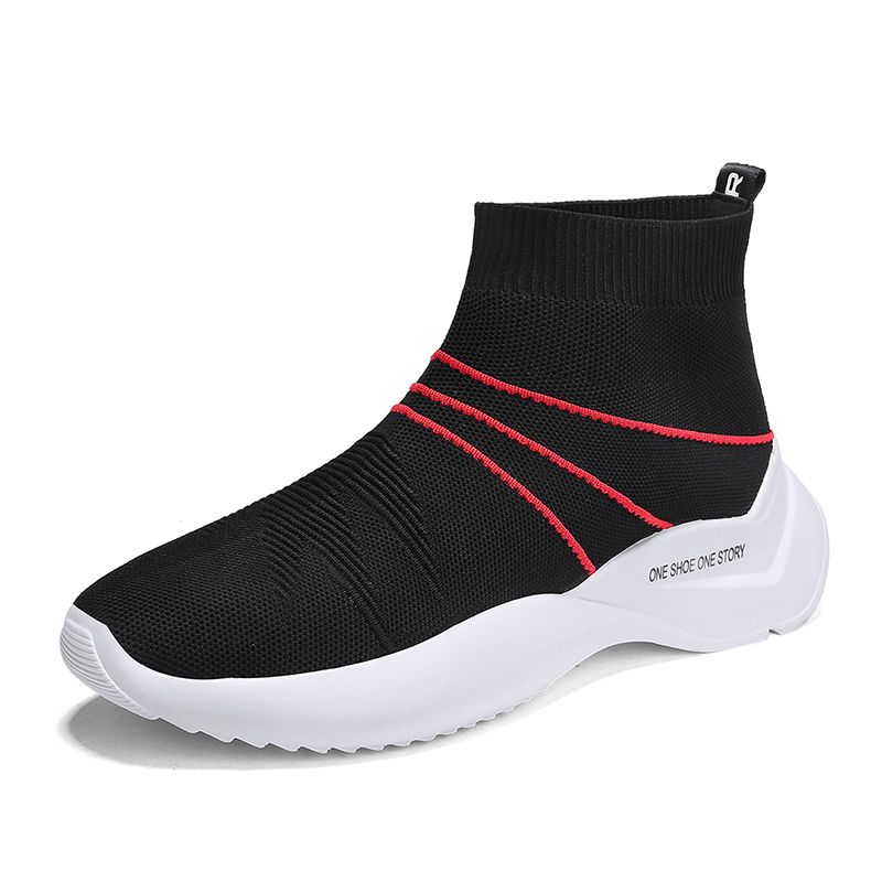 32af4d84eb7 Mr Smile New Men Flying Woven Socks Shoes Tenis Masculino Superstar  Breathable Flat Air Schoenen Mesh Slip-on Sneakers Summer