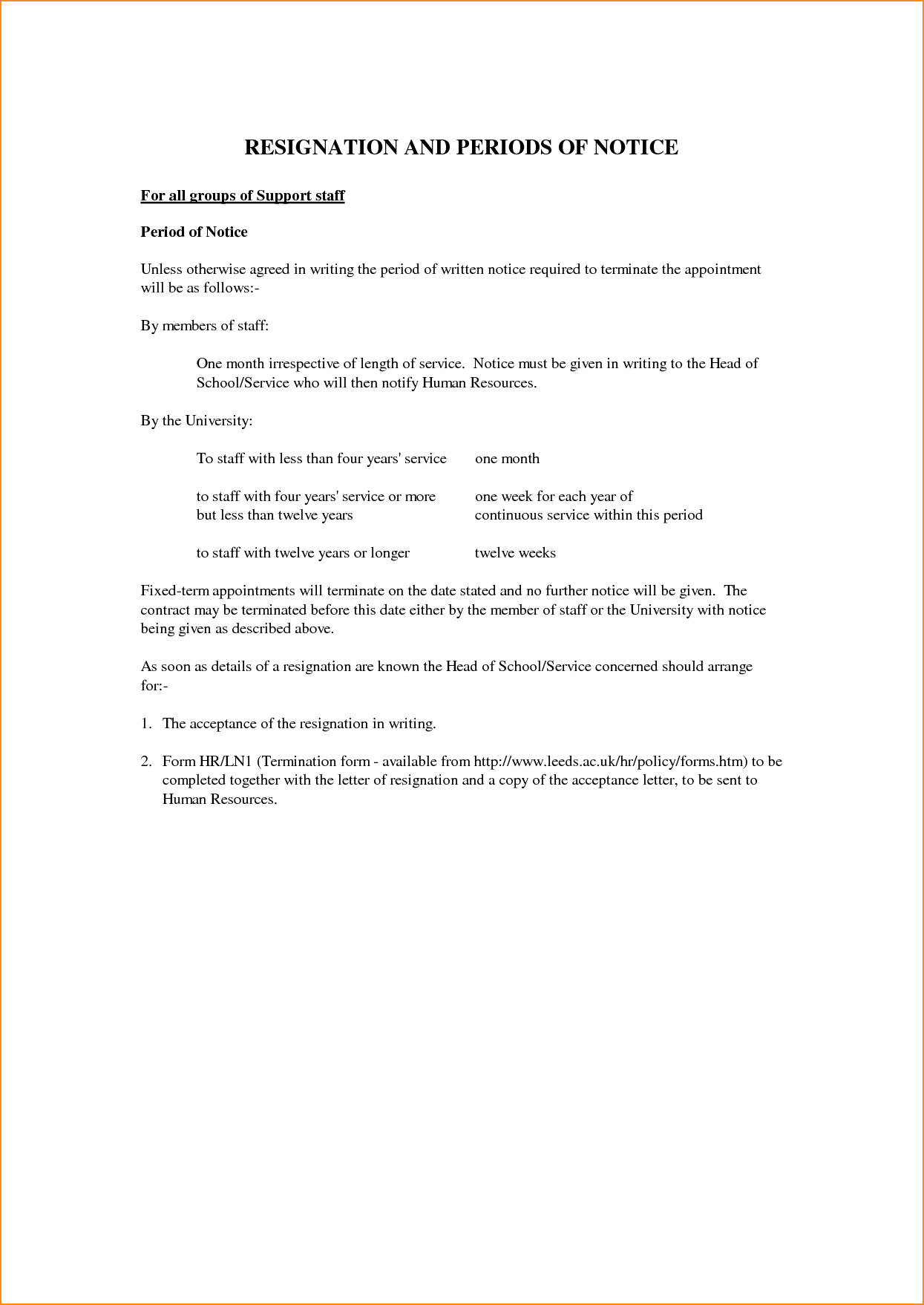 Cancellation Letter Lease Agreement Tenancy Resignation Resume