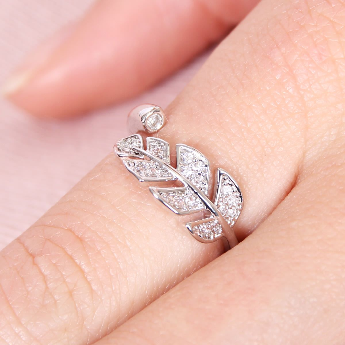 Cubic Leaf Ring | Leaf design, Leaf ring and Leaves