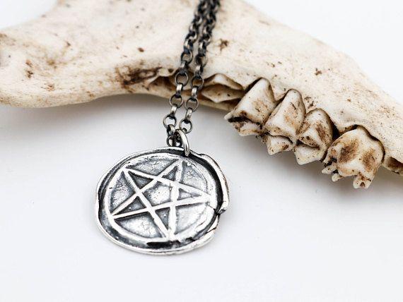 Sterling silver pentagram necklace pentagram pendant sam ryde sterling silver pentagram necklace pentagram pendant aloadofball Choice Image