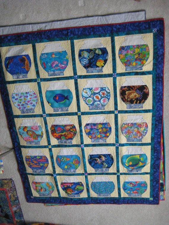 Fish Bowls Quilts Pinterest Fish Fish Quilt And