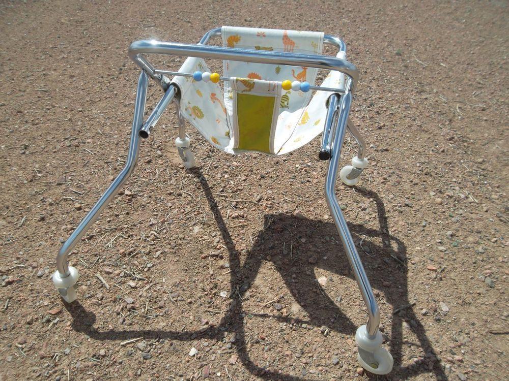 Baby Walker Vintage Antique Retro Old Seat Highchair