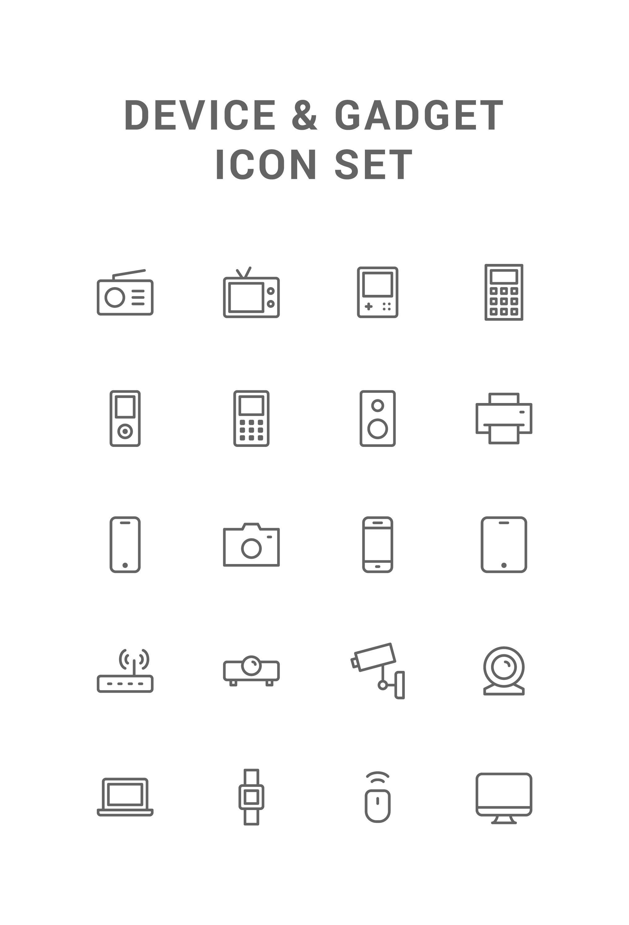 Device Line Icons By Deemak Daksina Line Icon Icon Icon Set