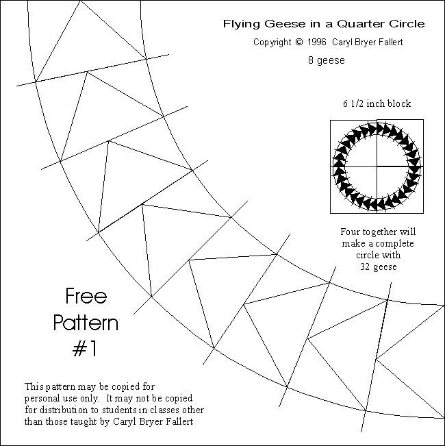 Flying Geese Quarter Circle Oh Yeah