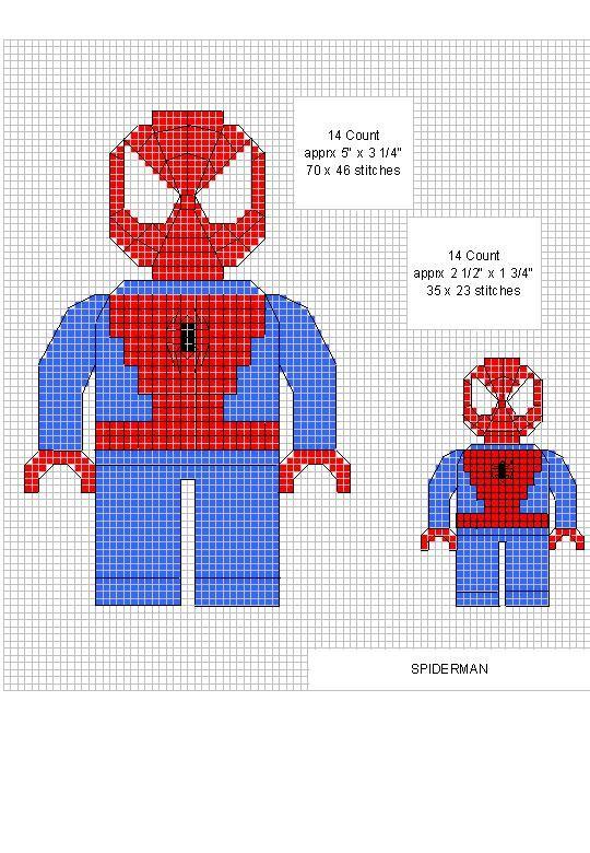 Spiderman Cross Stitch | Hama Spiderman | Pinterest | Häkeln ...