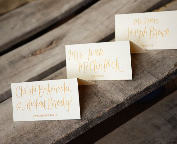 Place Cards Handwritten Calligraphy by YourNewFriendSam on Etsy