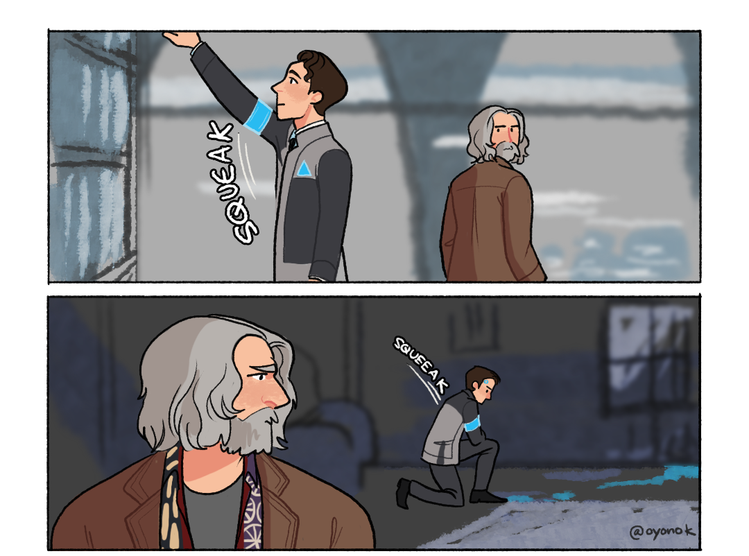 Oyonok Proper Maintenance Is Key To A Peaceful Coexistence With Your Cyberlife Android Twitter In 2020 Detroit Become Human Detroit Become Human Connor Detroit