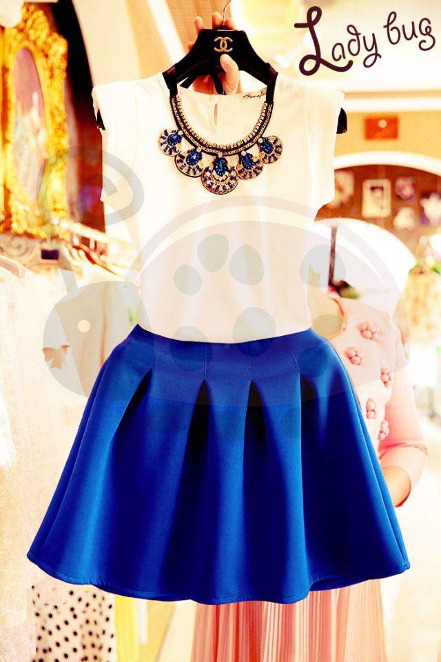 Vestido Golden Blue