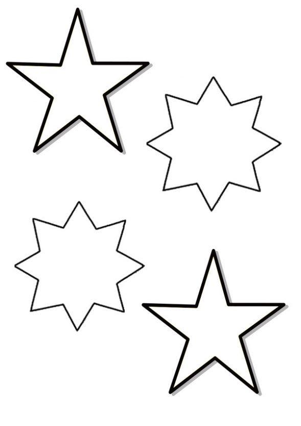 Estrellas de Navidad para colorear | Plantillas de navidad ...