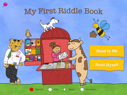 My First Riddle Book is an interactive kids' book with 36