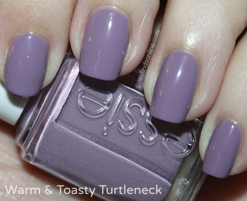 What\'s On My Nails: Essie Warm Toasty Turtleneck/ light lavender ...