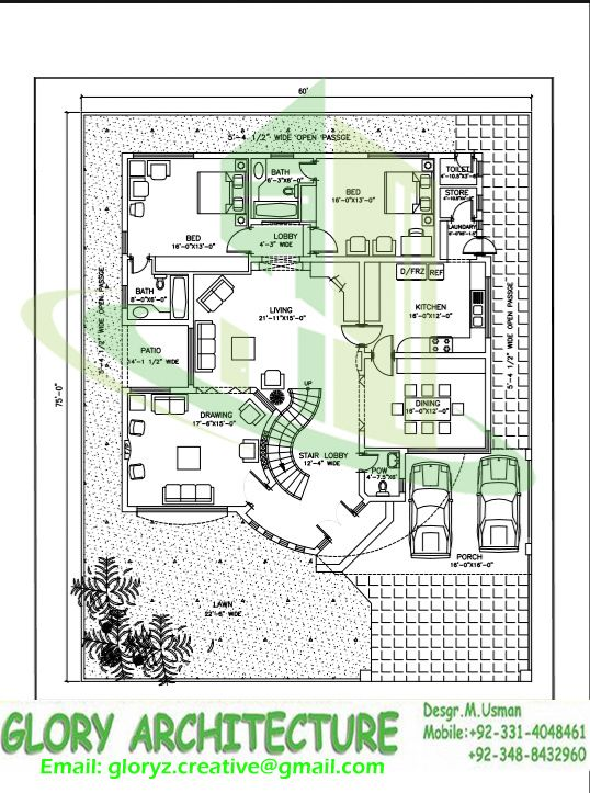 60x75 House Plan G 15 Islamabad House Map And Drawings