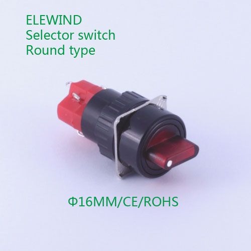 Elewind 16mm Selector Switch 2 Position Maintain With Led Light Pb162y 11xd 21 R 12v Led Lights Led Replacement Parts