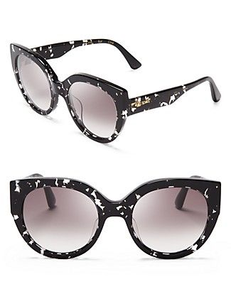 806073ad37c90 Toms  modern-meets-retro cat eye sunglasses were designed exclusively for  Bloomingdale s. Done up with Only-Ours marble-effect frames