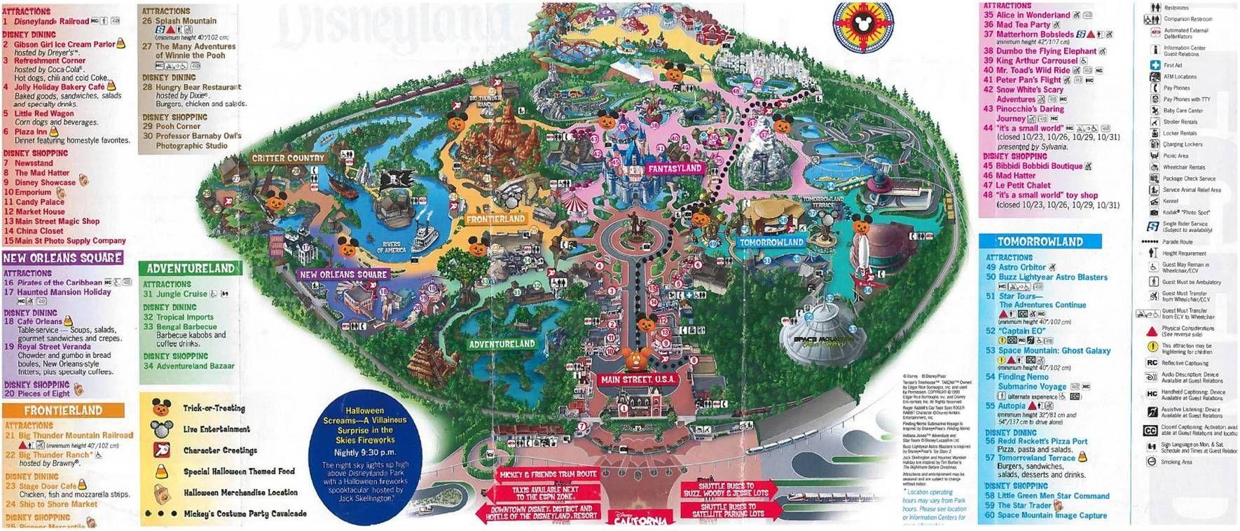 Disneyland Halloween Map Vacation Station Pinterest - Disneyland usa location map