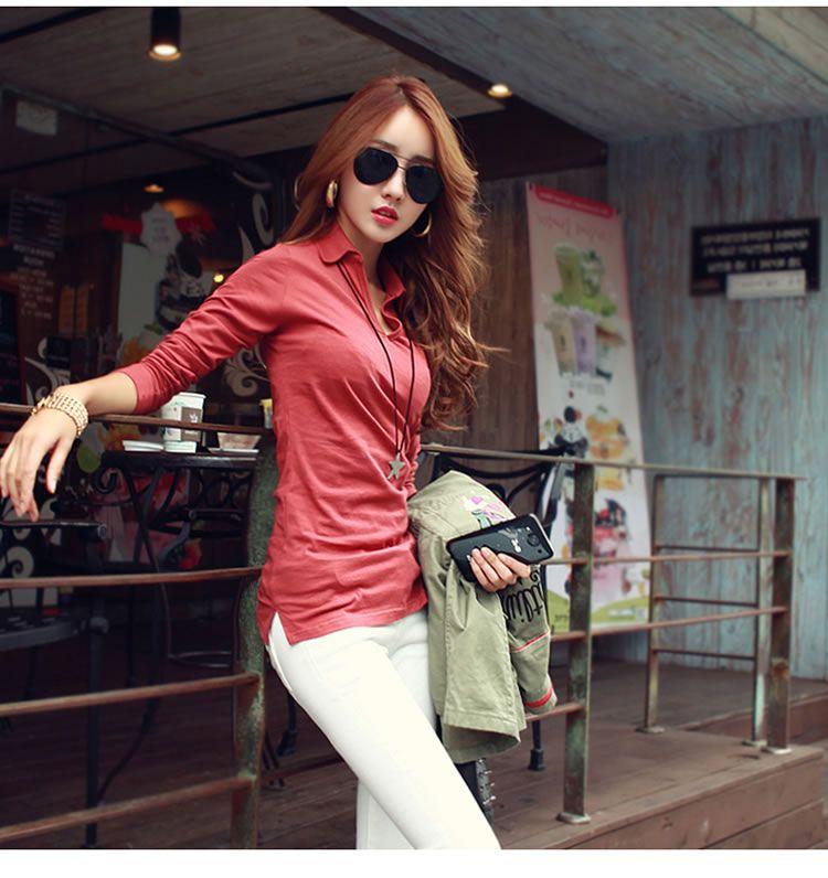 baju korean style wanita lengan 3:4-1