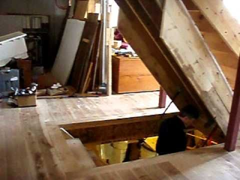 Solid oak trap door small attic space basement