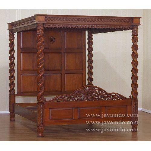 4 Piece Modus Kentfield Solid Wood Bedroom Set: Four Pillars King Bed