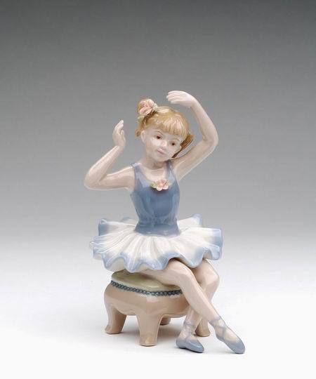 Ballerina Sitting on Chair Figurine