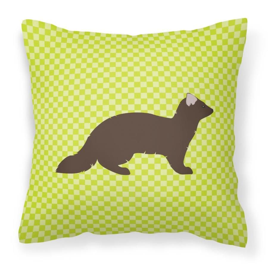 Caroline's Treasures Graphic Print Square Animals Throw Pillow Polyester   BB7695PW1818