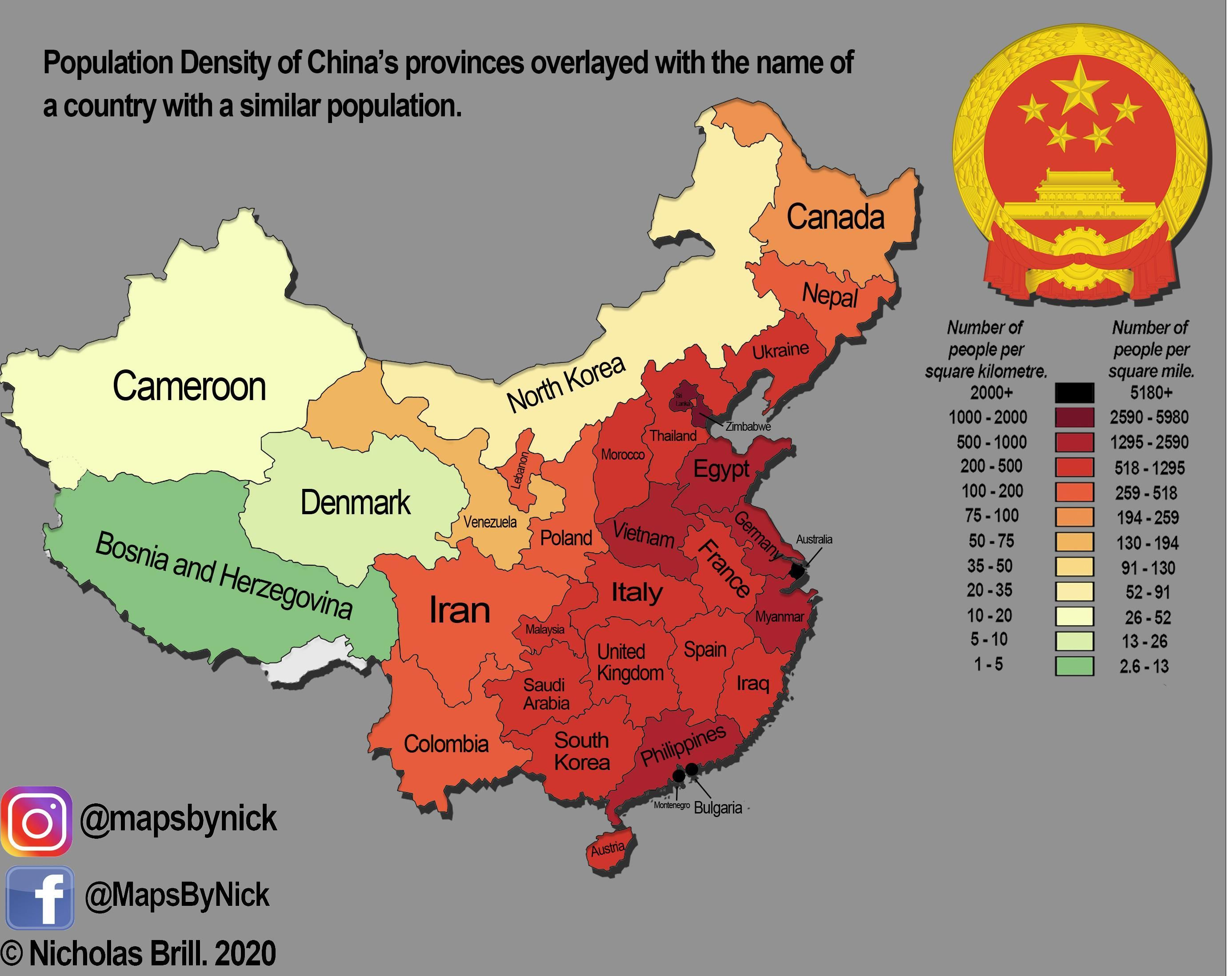 Population Density Map Of China In