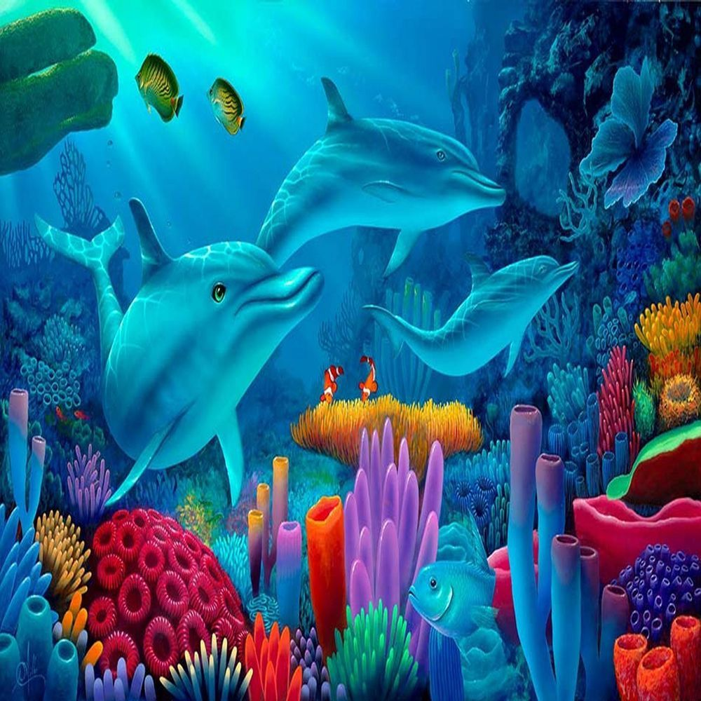 Dolphin fish sea ocean marine coral reef weeds color pillow cushion dolphin fish sea ocean marine coral reef weeds color pillow cushion cover 18 ebay publicscrutiny Images