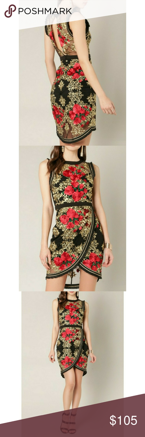 Just Skirts And Dresses Inspiration: JUST IN!!DRAGON INSPIRED EMBROIDERED TULIP DRESS🥀 🤝SHOP
