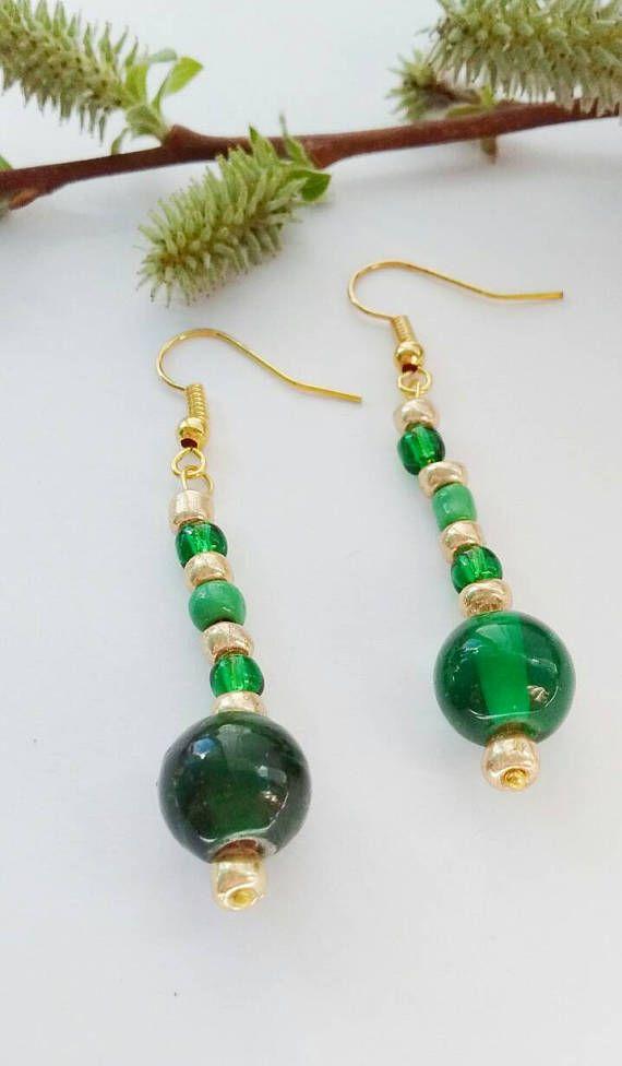 Bead Earrings, Dangle Earrings, Christmas Gift, Stocking Filler ...