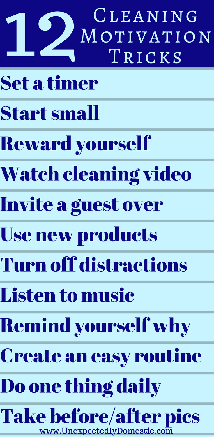 How To Get Motivated To Clean 12 Fun Cleaning Motivation Tricks Cleaning Motivation How To Get Motivated Best Cleaning Products