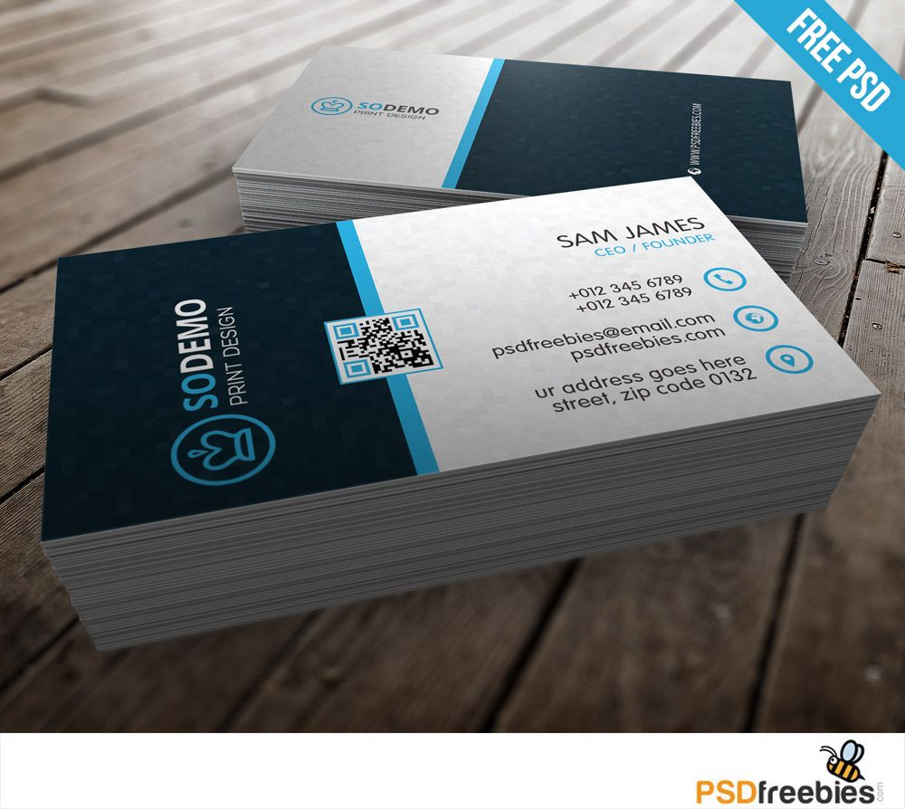 Modern Corporate Business Card Free Psd Psdfreebies Com Free Business Card Templates Business Card Template Psd Business Card Psd
