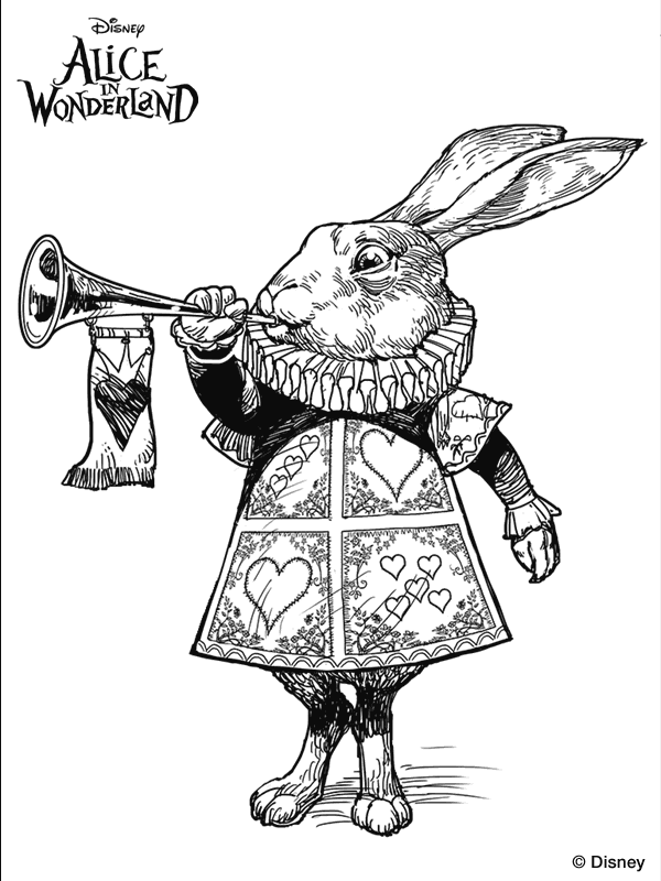 alice in wonderland movie coloring pages | Tim Burton's Alice in Wonderland coloring page. | Alice in ...
