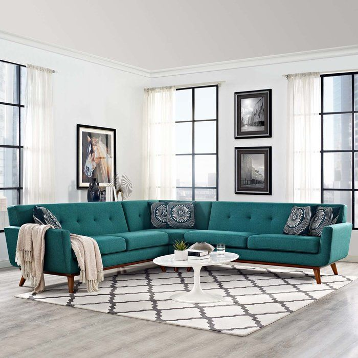 emerson symmetrical sectional  l shaped living room