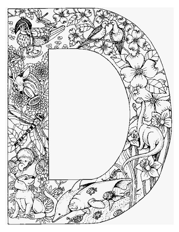 Awesome Alphabet Animal Coloring Pages  Letter D