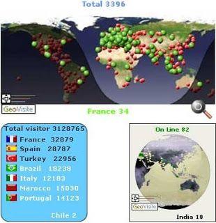 Contador de Visitas Grátis - Geolocalização