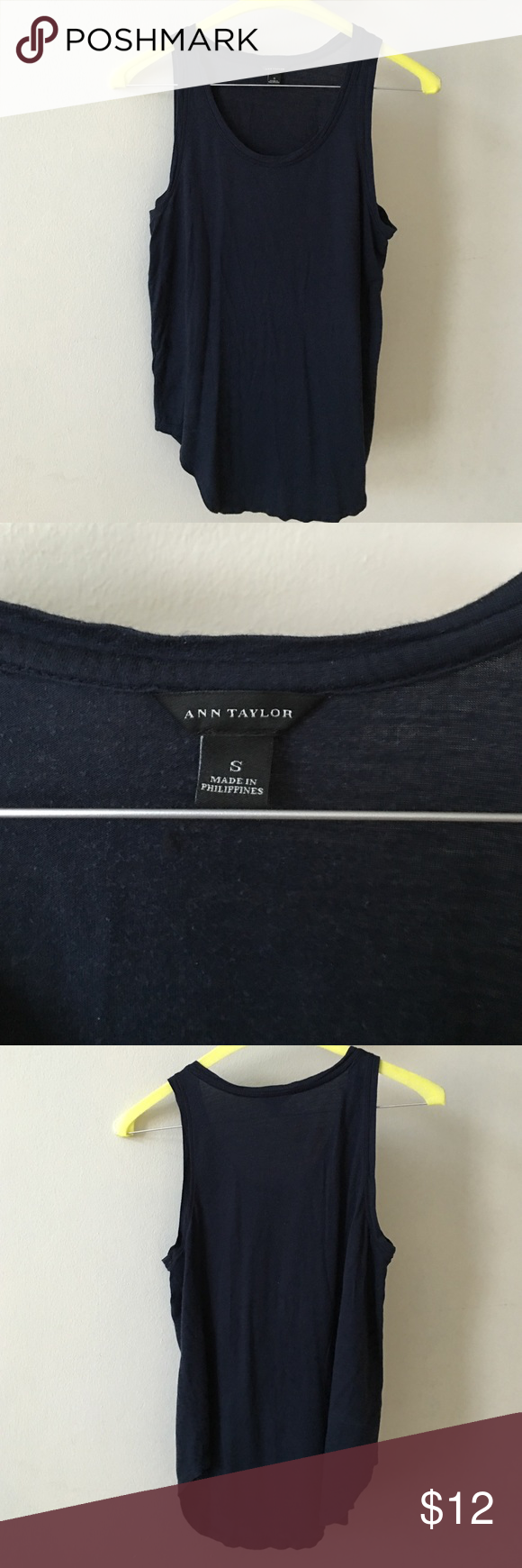 Ann Taylor gorgeous top S Ann Taylor gorgeous top S. 70% rayon. Very soft and comfortable. Great for summer weather. Ann Taylor Tops