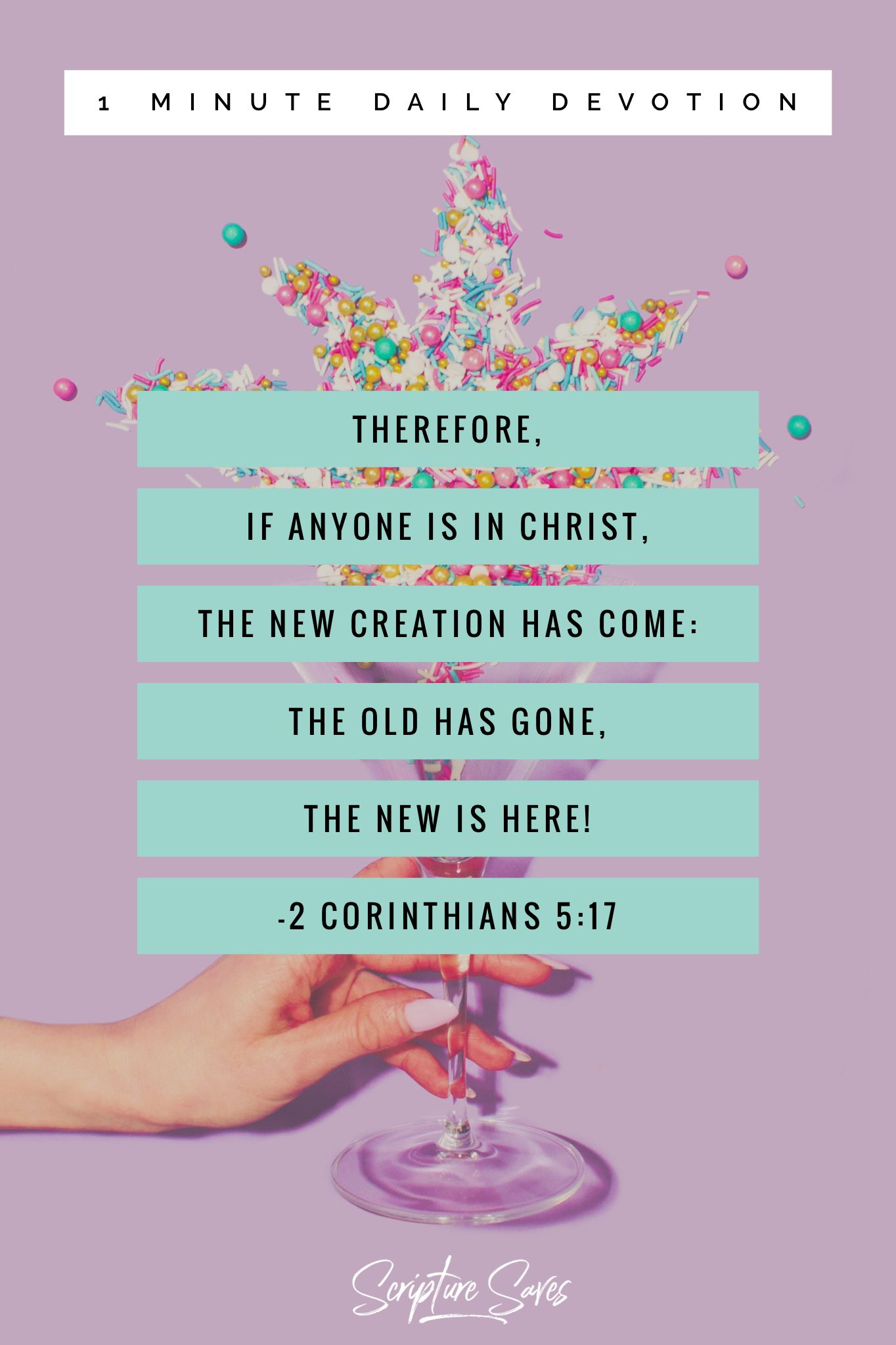 1 Minute Daily Devotion New Year, Same You, New Goals 2