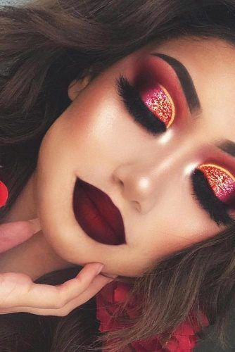 Photo of 24 BEST LOOKS AND TRENDS FOR THE AUTUMN MAKE-UP FOR 2019 The fall colors of …