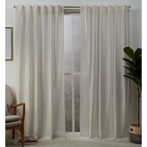 Muskoka Teardrop Slub Embellished Hidden Tab Top Curtain Panel