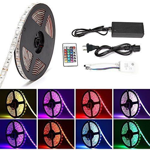 $4982 - Music LED Light StripSOLMORE Sound Activated RGB 164ft5M