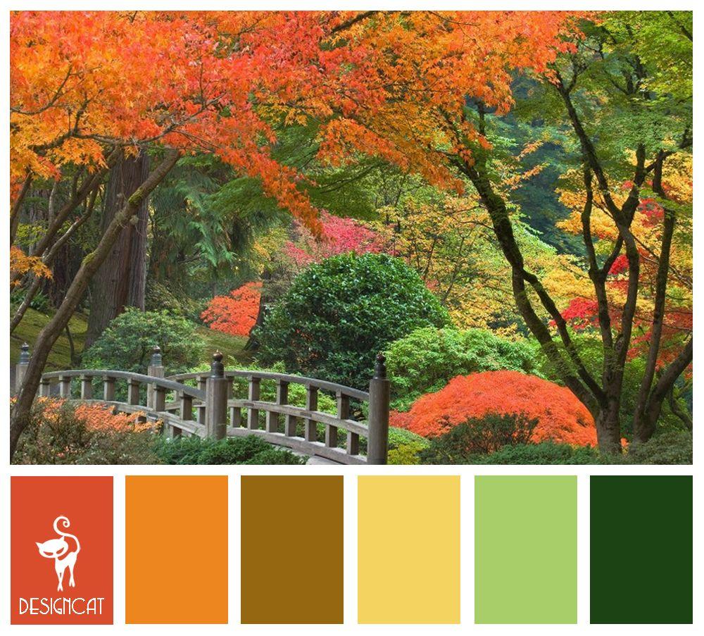 Autumn 3 Terracotta Orange Green