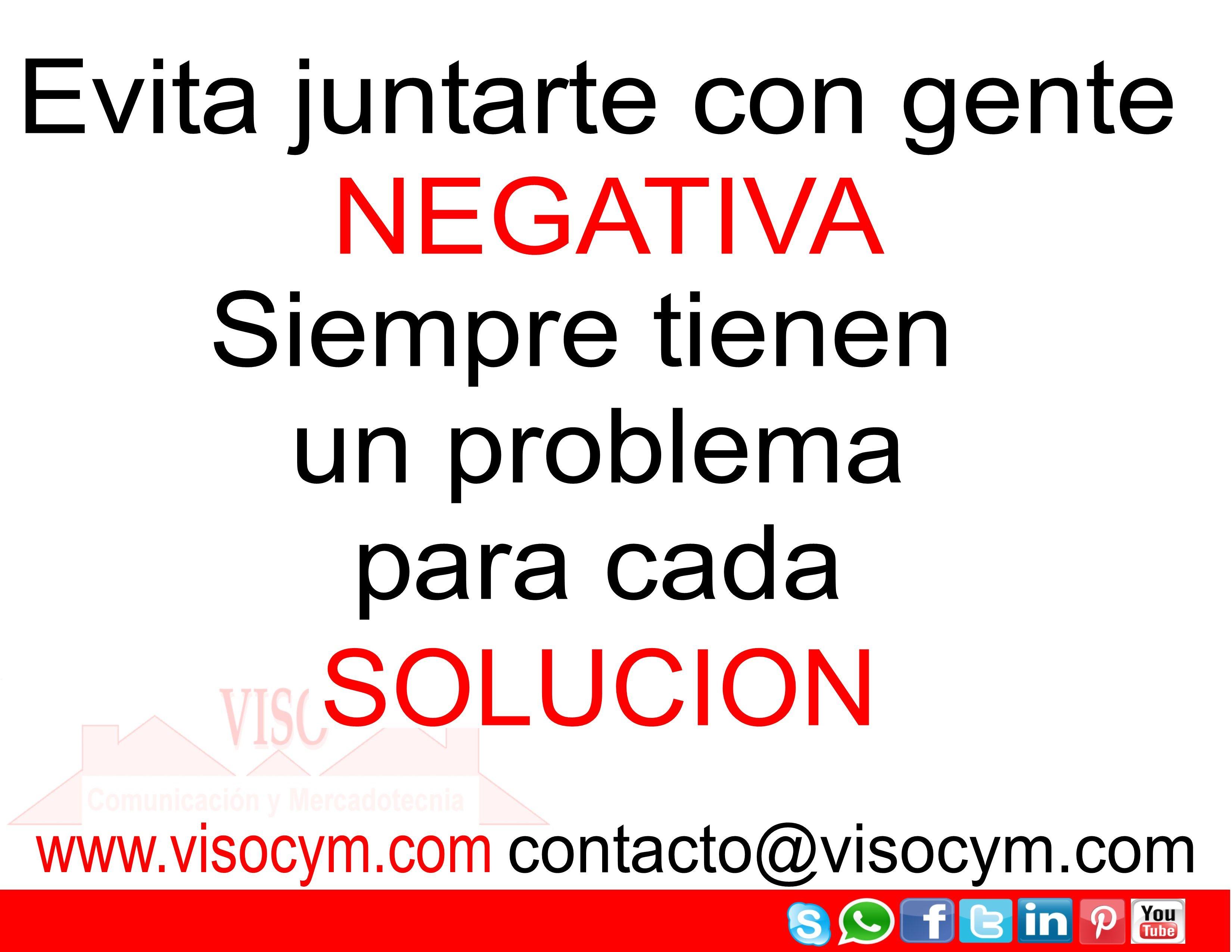 Evita juntarte con gente NEGATIVA Siempre tienen un problema para cada SOLUCION #visocym