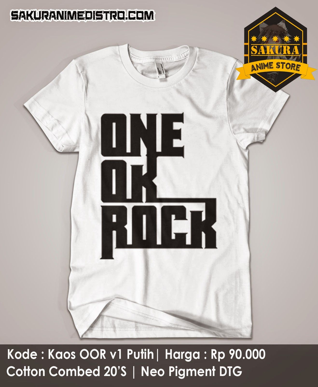 Kaos Band One OK Rock v1 Putih One ok rock, Cosplay