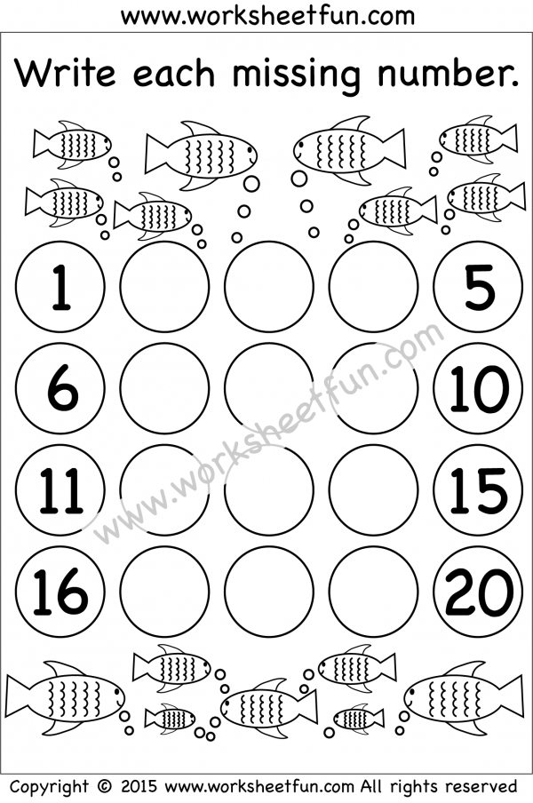 Missing Numbers 120 Two Worksheets / FREE Printable