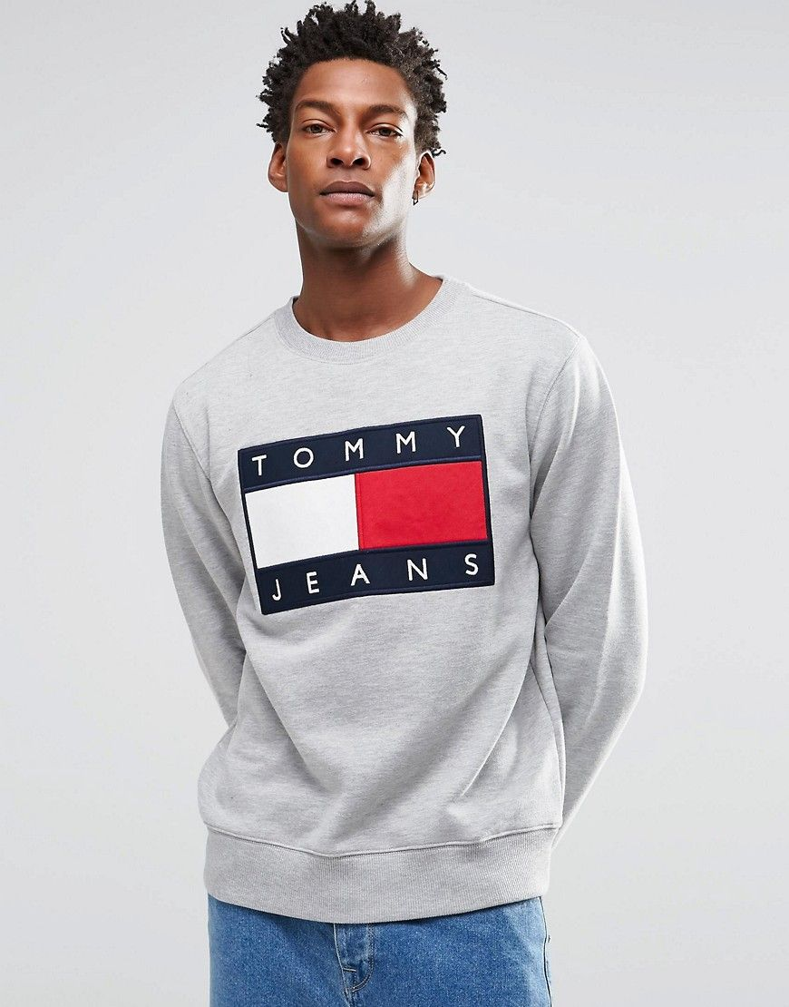 Hilfiger+Denim+Sweatshirt+with+Tommy+Flag+Logo+In+