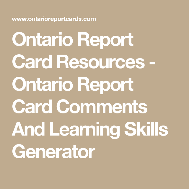 Ontario report card mark sheets for easier mark entry incl