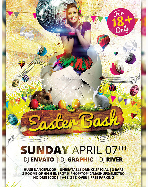 Easter Kids Spring Flyer Template – Easter Flyer Template