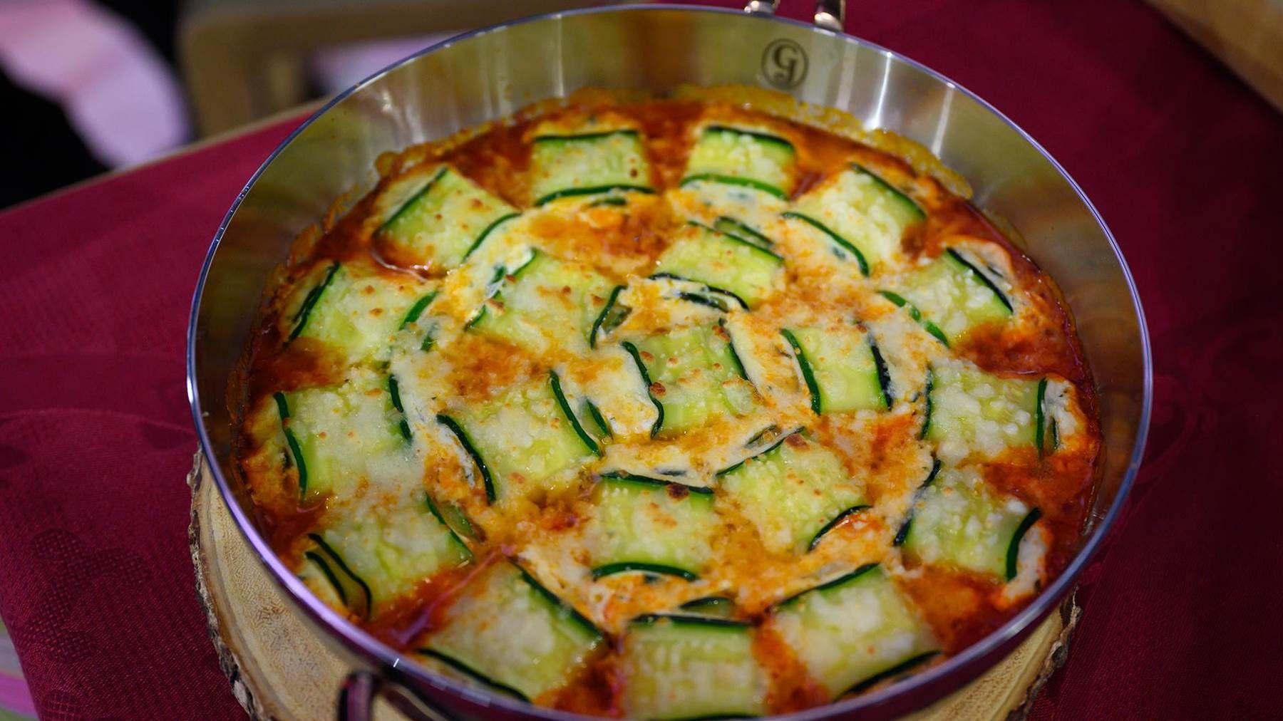 Valerie Bertinelli S Zucchini Rollatini Recipe In 2020 Zucchini Low Carb Casseroles Pancetta