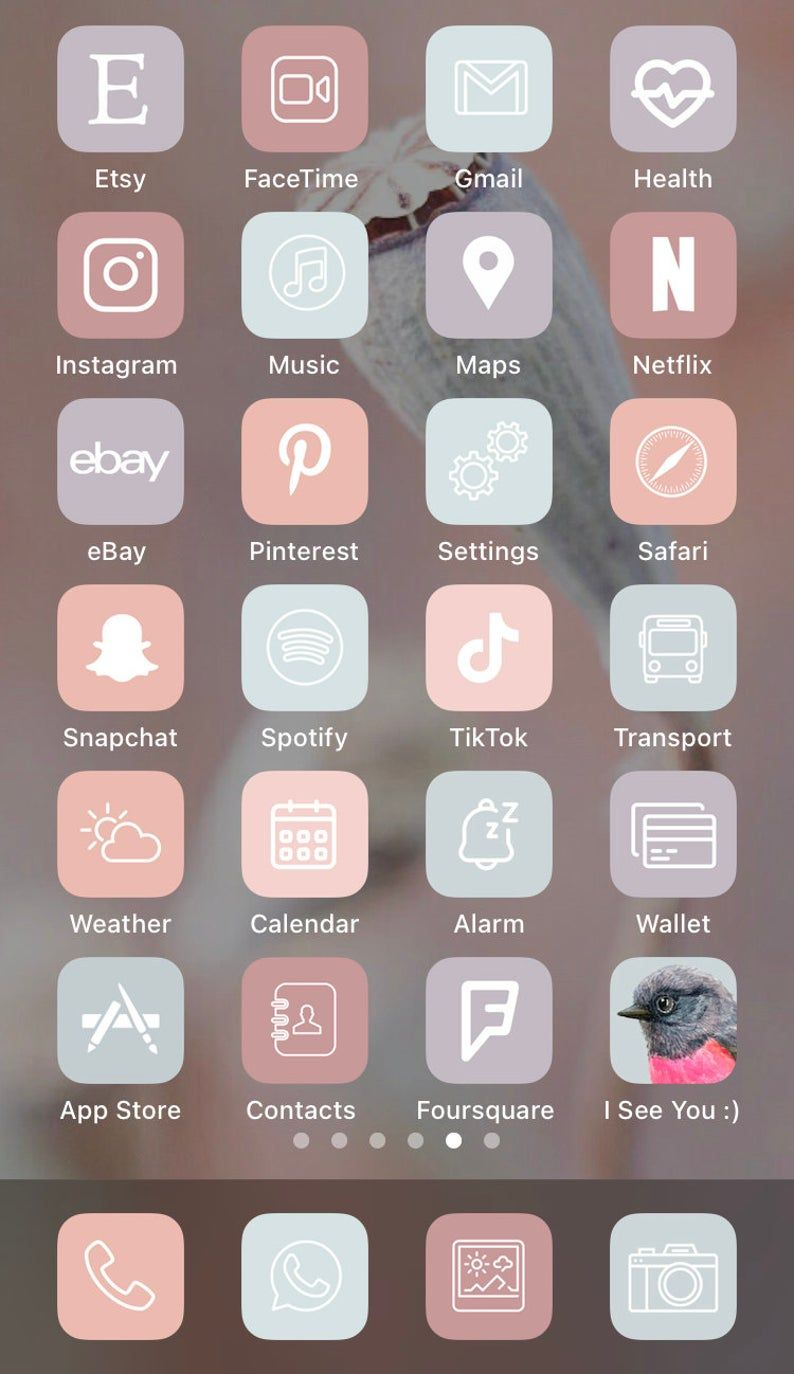 App Icons iOS14   Pastel Aesthetic iPhone   Social