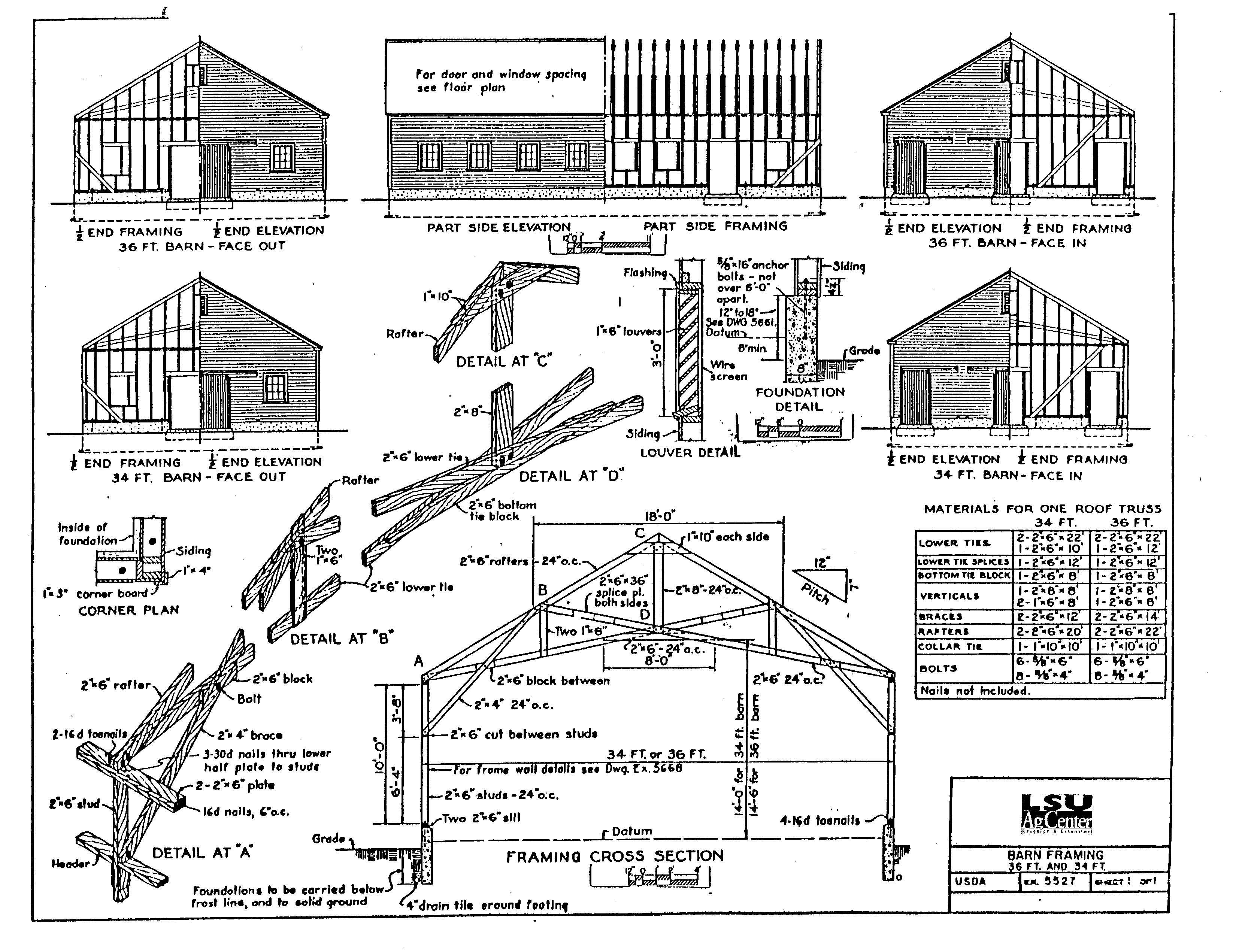 Building Barns Construction Plans At Woodworkersworkshop